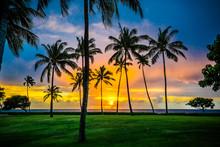 Sunset At Ko Olina Resort On Oahu's West Side