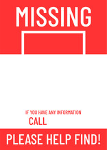Blank Missing Poster Template Ready To Print