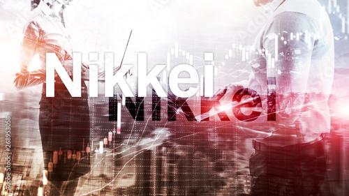 Canvas-taulu The Nikkei 225 Stock Average Index