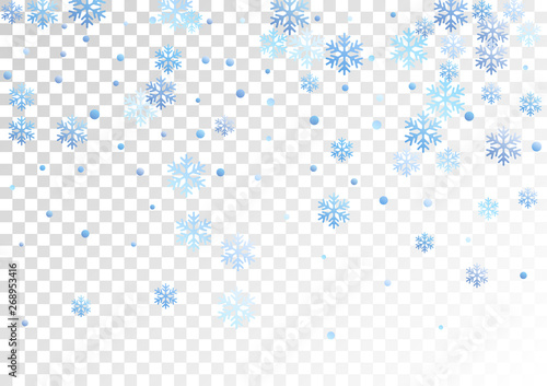 Obraz Crystal snowflake and circle shapes vector graphics. - fototapety do salonu