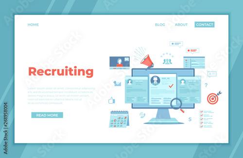 Fotografía  Recruitment platform, agency, hr