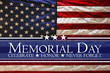 canvas print picture - American flag Memorial day background