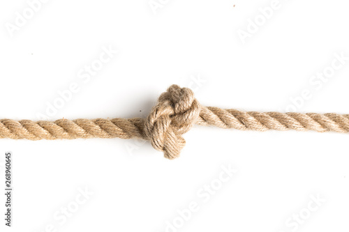 Obraz nautical rope knot isolated on white background. - fototapety do salonu