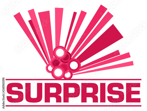 Poster Individuel Surprise Pink Graphical Element Text