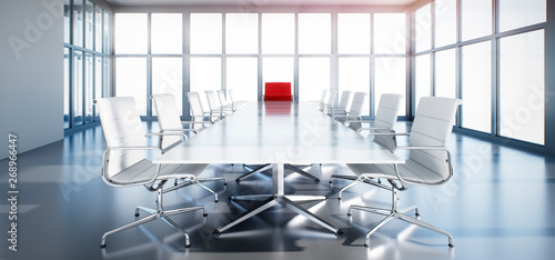 Meeting Room Chefetage Roter Sessel Canvas-taulu