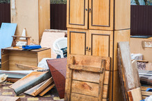 Home Furniture Thrown Out In The Junk: Wardrobe, Table, Boards