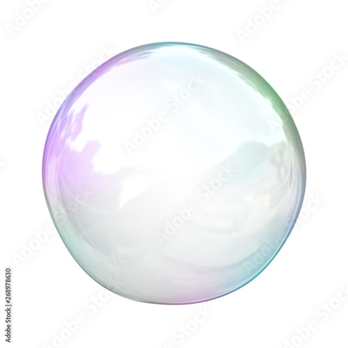 Fotomural  soap bubble background illustration