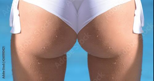 Fotografia, Obraz Wet ass in swimsuit