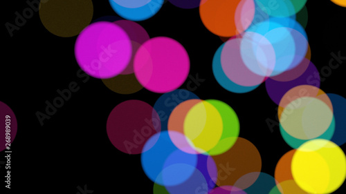 Bokeh rounded abstract rainbow circles