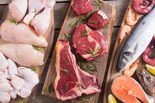 Assortment Of Meat And Seafood