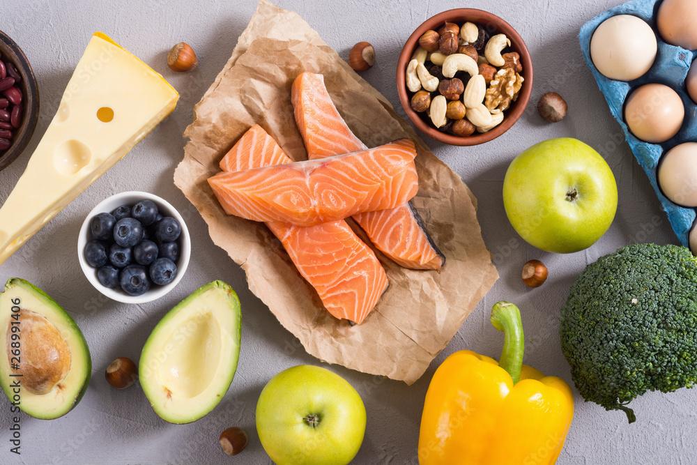 Fototapety, obrazy: Keto diet . Healthy background .