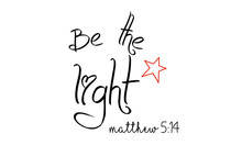Be The Light, Typography For P...