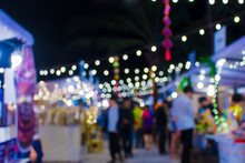 Blur Walking Street At Night F...