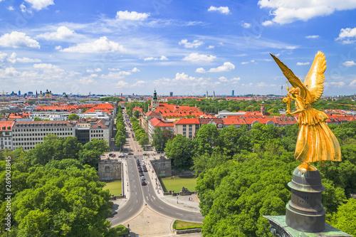 Fotografia München Friedensengel mit Prinzregentenstraße
