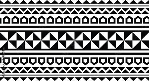 Polynesian Tattoo Tribal Pattern Border Sleeve Vector Samoan Sketch