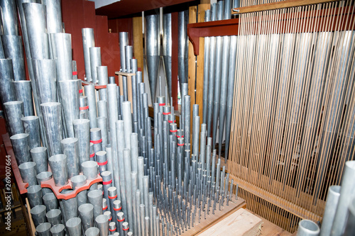 Organ, keyboard instrument of more pipe divisions  - 269007664