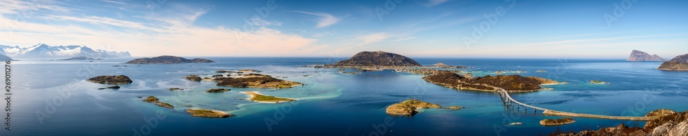 Fototapety, obrazy:  Beautiful view of islands - Sommaroy in Troms, North Norway