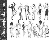 Vector Set Of Office People Wo...