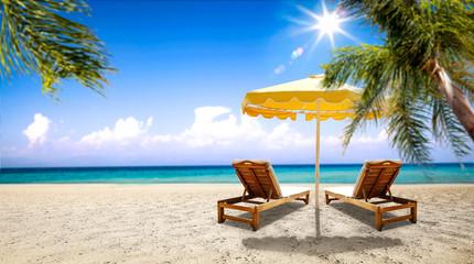 Summer photo of beach and sea