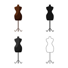 Vector Illustration Of Mannequin And Tailor Symbol. Collection Of Mannequin And Manikin Stock Vector Illustration.