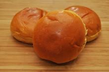Fresh Baked Brioche Buns On A ...