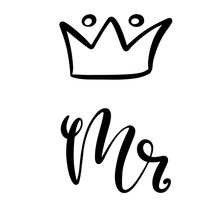 Mr And Mrs Design For Wedding Card