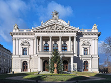 Mahen Theater (Mahenovo Divadlo) In Brno, Czech Republic. It Was Built In 1882. Since 1965, The Theater Named After The Czech Novelist, Playwright And Essayist Jiri Mahen.
