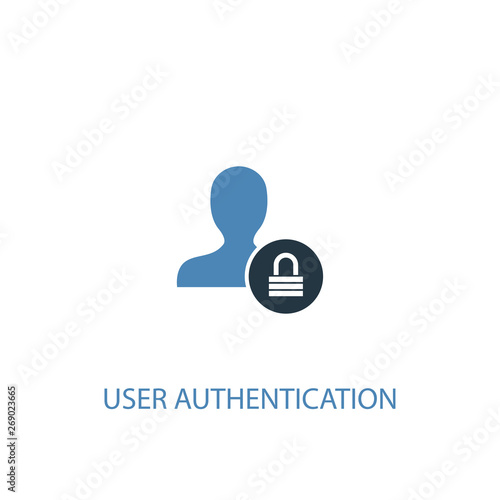 User Authentication concept 2 colored icon Wallpaper Mural