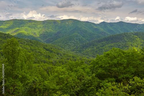 Foto op Aluminium Indonesië Scenic view from the Blue Ridge Parkway near Buena Vista and Montebello, Virginia