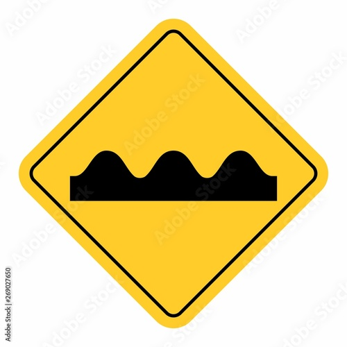 Fotografía Bumpy Road Sign