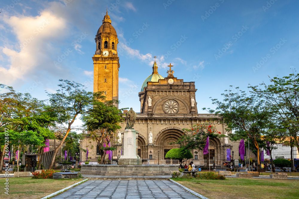 Fototapety, obrazy: Facade of Manila Cathedral, Manila, Philippines