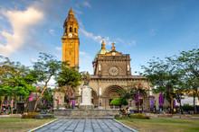 Facade Of Manila Cathedral, Ma...