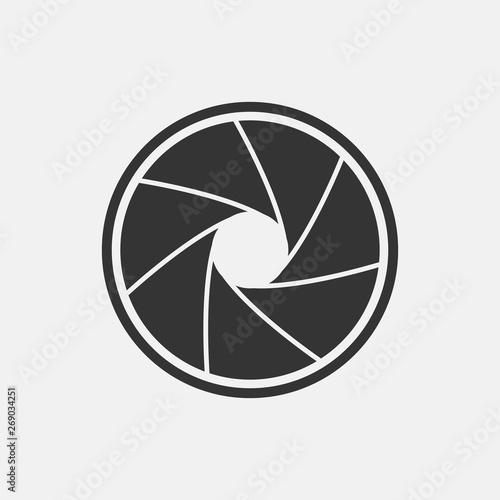 Cuadros en Lienzo Aperture vector icon illustration sign