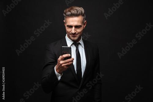Confident attractive businessman wearing suit Tableau sur Toile