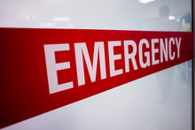 Red Emergency Room Signs And P...