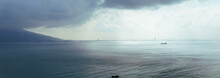 Panorama View Of A Storm Comin...