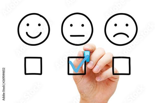 Average Customer Feedback Survey Concept Canvas Print