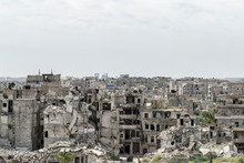 City Of Aleppo And Destroyed B...