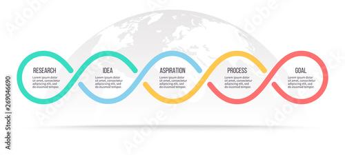 Fotografía Business infographics