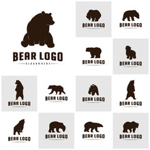 Se Of Bear Logo Icon Designs V...