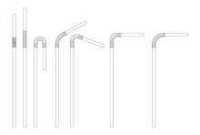 Drinking Straw Sketch Set. Str...