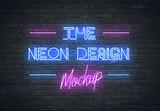 Neon Sign Mockup - 269049214