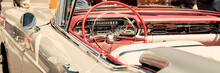 Interior Of A Classic Car, Old...