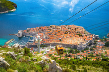 Old Town Of Dubrovnik With Cab...