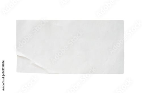 Obraz white paper sticker label isolated on white background - fototapety do salonu