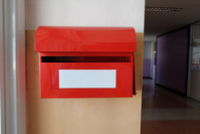Red Postal Box Or Red Post Box...