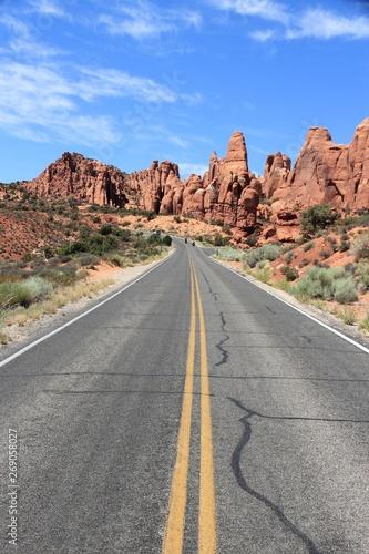 Poster Gris Utah road
