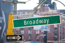 Broadway Street Sign In New York City USA