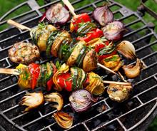 Vegetarian Skewers, Grilled Ve...