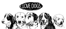 Love The Dogs! Poster, Postcar...